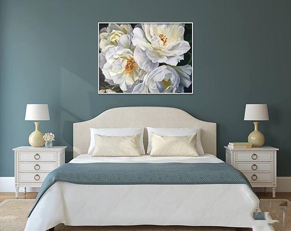 Hướng dẫn chọn tranh sơn dầu treo phòng ngủ hài hòa