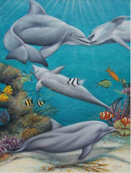 Những bức tranh sơn dầu phong cảnh biển và câu chuyện theo sau nó
