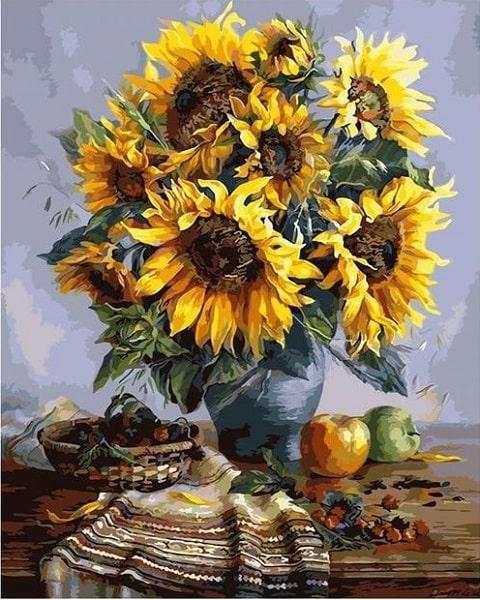 Ý nghĩa của tranh sơn dầu hoa hướng dương